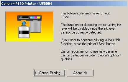 Cara Mengatasi Printer Canon Setelah di Refill Blinking adalah :